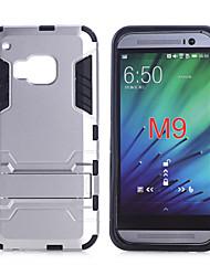 Pour Coque HTC Antichoc Avec Support Coque Coque Arrière Coque Armure Dur Polycarbonate pour HTC HTC One M9