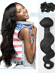 Brazilian Virgin Hair Body Wave 1Pcs Unprocessed Brazilian Body Wave Human Hair Extensions Free Shipping