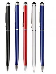 kinston® 5 x clip de pluma de la pantalla táctil de la aguja de metal universal con la pluma de bola para iPhone / iPad / Samsung y otros