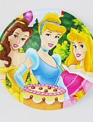 Kids Birthday Party Decorations  Princess  Paper Plates 7'' Party Supplies Plates Event Party Supplies 12pcs/lot