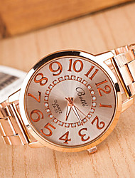 Couple's Round Dial Case Silicone Watch Brand Fashion Quartz Watch(More Color Available)