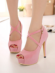 Women's Shoes Fleece Stiletto Heel Peep Toe Pumps Dress More Colors available