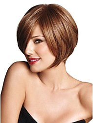 High Quality Capless Short Bob Mono Top Human Hair Wigs 8 Colors to Choose