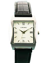 caixa da liga analógico das mulheres quadrado discar banda pu chinês relógio relógio de quartzo dom mulheres relógio de negócios (cores