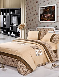 La housse de couette de Mingjie literie léopard Ensembles de draps taille porcelaine de la reine et sa taille
