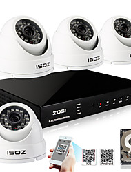 ZOSI® 800TVL 960H D1 HDMI 1TB HDD 4CH H.264 DVR Kits 4x Outdoor Day Night IR CCTV Camera Security System