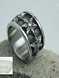 bijoux de cadeau de jour de l'acier inoxydable des hommes d'argent l'anneau de père personnalisé