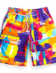 Men's Surf Board Shorts Quick Dry Beach Swimwear Pants (Polyester)