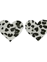 Bras Satin Wedding/Casual Sexy Dot Heart Shaped Nipple Cover 1 Pair Black