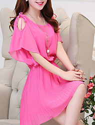 RXHX   Women's CLOTHING STYLE Elasticity Sleeve Length Dress Length Dress (Fabric)