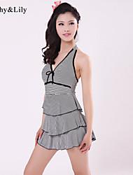 Kath ® Women's New Fashion European Sand Beachwear Stripe Swimwear
