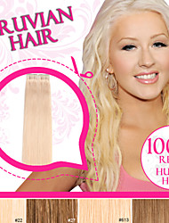 Light Color Tape in Hair/ Skin Weft/ PU Weft 100% Peruvian Remy Human Hair Ty.Hermenlisa