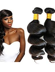 3pcs / lot 8-30 pulgadas virgen de la onda brasileña del pelo humano floja 100g negro natural por paquete tejer sin procesar crudos