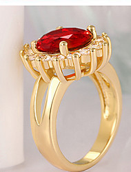 Ring Fashion Wedding / Party Jewelry Cubic Zirconia / Gold Plated Women Statement Rings 1pc,One Size Gold