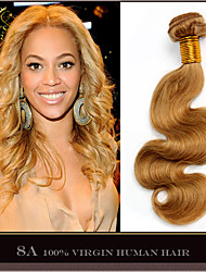 "3 Pcs Lot 14""-28"" Brazilian Virgin Hair Body Wave Wavy Honey Blonde Remy Human Hair Weave Bundles Shedding Tangle Free"