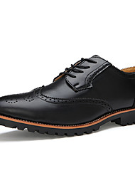 Men's Shoes Black/Blue/Brown Leather)
