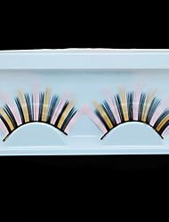 Charming Eye Lashes Makeup Beauty Tools Natural Long Thick Orange Color Fashion False Eyelashes