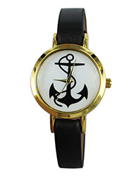 Women's Anchor Style PU Band Quartz Analog Wrist Watch (Assorted Colors)