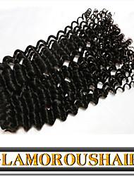 """3 Pcs/Lot 12""""-30"""" Malaysian Virgin Hair Natural Black Tight Curly Human Hair Extension"""