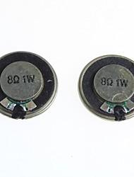 8 ohms 1w 2,8 centímetros de diâmetro pequeno alto-falante / alto-falante (2pcs)