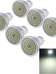 6W GU10 Spot LED 48 SMD 2835 610 lm Blanc Froid Décorative AC 85-265 V 6 pièces