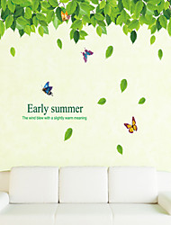 folhas verdes parede adesivos de parede decalques e estilo puro e fresco adesivos de parede de pvc