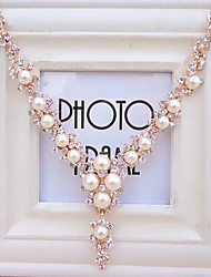 2015 New Arrival High Quality Popular Rhinestone Pearl Necklace