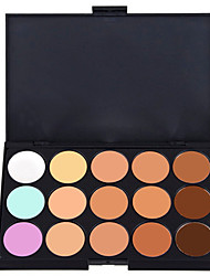 15 Lidschattenpalette Nass / Matt / Schimmer Lidschatten-Palette Cream Normal Smokey Makeup / Party Make-up