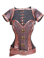 I-Glam Rock Women's Steampunk Corset, Jacket, and Belt
