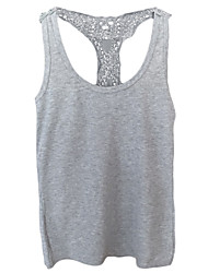 Women's Crochet Lace Back Sleeveless Camisole Tank Top