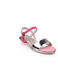Shepherdess European Grand Prix 2015 new genuine leather shoes pink slip flat with open toe casual flat sandals