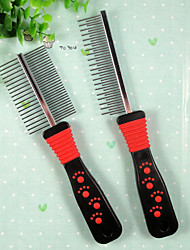 Paw Print Single Comb Paperback For Pets Dogs