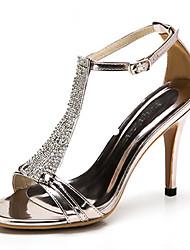 Zapatos de mujer - Tacón Stiletto - Tacones / Punta Abierta / Tira en T - Sandalias - Oficina y Trabajo / Vestido / Fiesta y Noche - Cuero
