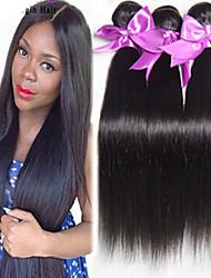 3pcs / lot brasileña virginal del pelo recto de grado 8a cabello humano 100% vingin pelo sin transformar el cabello