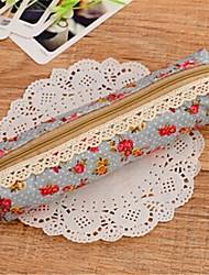 Cute Floral Print Fabric Pen Bag(4-colors)(1Pc)