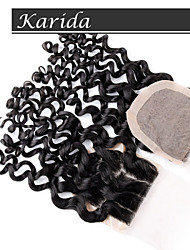 Virgin Brazilian Deep wave Silk Base Closures,Stock Human Hair Wholesale 3 Part Silk Base Closure