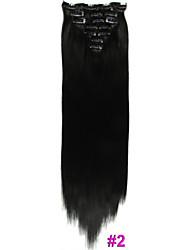 """22 """"(55cm) 130g de clip directement dans les extensions de cheveux"""