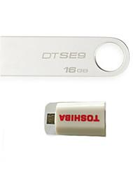 оригинальные Kingston DT SE9 16g USB флэш-накопители (дать OTG комплект подключения смарт)