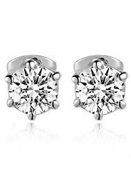 T&C Women's Concise Six Claws Simulated Diamond Stud Earrings Made With Austrian Crystal Stellux Jewelry