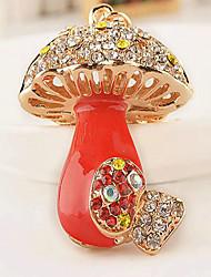 Mushroom Rhinestone Wedding Keychain Favor