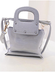 Women's Han edition Pure PVC Tote/ Crossbody & Messenger
