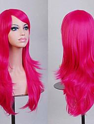 la mode dessin animé de couleur perruques colorées de mascarade spéciale 70 cm ont augmenté perruque rouge