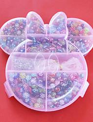 acryliques de mode perles de bricolage de couleur assortie et la forme dans la boîte enfants toy plastique pour la fabrication de bijoux