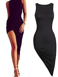 Kaman Women's Sexy/Party Sleeveless Dresses (Cotton/Elastic)