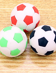 Set of 3 Sports Shape Erasers Soccer Football Eraser Rubber Stationery (Random Color)