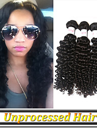 "3Pcs/Lot 8""-34""Brazilian Curly Hair Virgin Unprocessed Human Hair"
