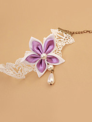 Women Fashion Body Jewelry Summer Beach Charm Vintage Casual Lace Bauhinia Flower Anklets