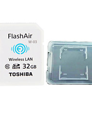TOSHIBA  32GB Class10 FlashAir Wifi SDHC Memory Card  And The Memory Card Box