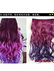 Five Clips Curly Synthetic Hair Extension Clip In Hair Extensions