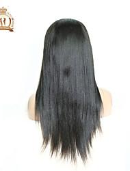 """10 """"-26"""" cor do cabelo virgem naturais cabelo do bebê glueless peruca dianteira do laço direto brasileiro preto para as mulheres negras"""